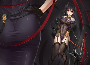 Rating: Questionable Score: 109 Tags: ass breasts midnight original thighhighs User: luckyluna