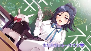 Rating: Safe Score: 83 Tags: anne-happy blue_eyes blue_hair blush bunny chiba_saddle gloves kodaira pantyhose skirt tie translation_request User: RyuZU