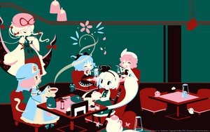 Rating: Safe Score: 56 Tags: blue_hair cirno fan hijiri_byakuren katana konpaku_youmu pink_hair saigyouji_yuyuko sword tagme touhou weapon white_hair yakumo_yukari User: Han-ul