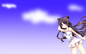 Rating: Safe Score: 54 Tags: anapom animal_ears black_hair blue blush clouds dress gokou_ruri gradient long_hair ore_no_imouto_ga_konna_ni_kawaii_wake_ga_nai purple_eyes sky summer_dress User: SciFi