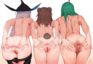 Rating: Explicit Score: 111 Tags: animal_ears arknights ass cum hat hoshiguma_(arknights) laserflip long_hair nude pussy skadi_(arknights) tail uncensored zima_(arknights) User: BattlequeenYume