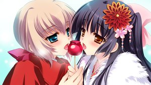 Rating: Questionable Score: 60 Tags: black_hair candy cube_(artist) game_cg kaburaki_ryuusei kakyouin_kotone kimi_to_boku_to_eden_no_ringo lollipop trap User: Wiresetc