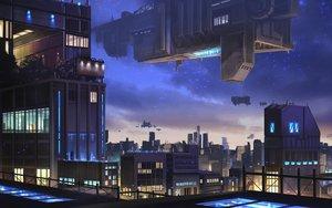 Rating: Safe Score: 36 Tags: airship building city miso_katsu nobody original scenic sky User: RyuZU