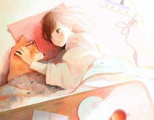 Rating: Safe Score: 67 Tags: animal dog drink hinata_(lipcream) kotatsu original User: mattiasc02