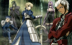 Rating: Safe Score: 17 Tags: archer caster fate/stay_night lancer rider saber tagme User: pantu