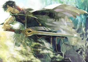 Rating: Safe Score: 108 Tags: all_male armor blue_eyes blue_hair cape chrom_(fire_emblem) fire_emblem gloves keiko_rin male sword weapon User: STORM