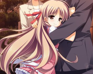 Rating: Safe Score: 30 Tags: brown_eyes brown_hair dress game_cg kourin_no_machi_lavender_no_shoujo riko_sada tears yuuki_hagure User: Wiresetc