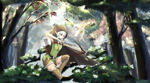 Rating: Safe Score: 182 Tags: blonde_hair bow_(weapon) dragon's_crown elf_(dragon's_crown) fairy flowers forest kikivi long_hair pointed_ears tagme_(character) thighhighs tree weapon white_hair User: FormX