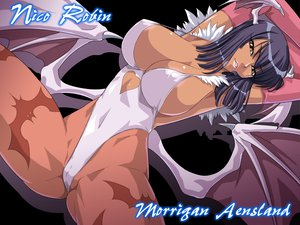 Rating: Questionable Score: 251 Tags: bikini breasts cameltoe cleavage cosplay darkstalkers erect_nipples nico_robin one_piece swimsuit wings User: Dragoonxxx