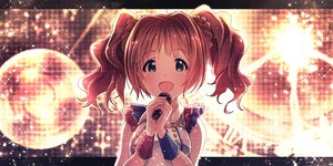 Rating: Safe Score: 85 Tags: blue_eyes brown_hair idolmaster ima_(lm_ew) long_hair microphone takatsuki_yayoi twintails User: Flandre93