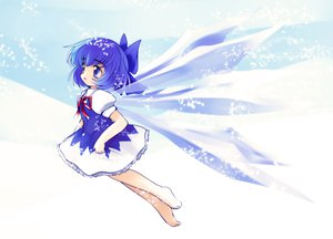 Rating: Safe Score: 33 Tags: blue_eyes blue_hair cirno dress loli touhou wings User: HawthorneKitty