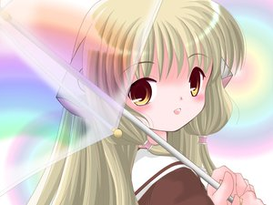 Rating: Safe Score: 14 Tags: chii chobits umbrella User: Oyashiro-sama