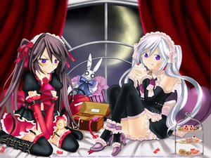 Rating: Safe Score: 51 Tags: alice_(pandora_hearts) garter_belt gray_hair lolita_fashion pandora_hearts purple_eyes stockings will_of_the_abyss User: gnarf1975