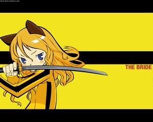 Rating: Safe Score: 12 Tags: animal_ears catgirl kill_bill kuroboshi_kouhaku sword vector weapon yellow User: Oyashiro-sama