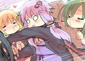 Rating: Safe Score: 41 Tags: blonde_hair car green_hair headband heart kiss long_hair petenshi_(dr._vermilion) purple_hair touhoku_zunko tsurumaki_maki twintails voiceroid yuzuki_yukari User: otaku_emmy