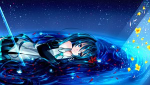 Rating: Safe Score: 65 Tags: hatsune_miku ke- petals twintails vocaloid User: HawthorneKitty
