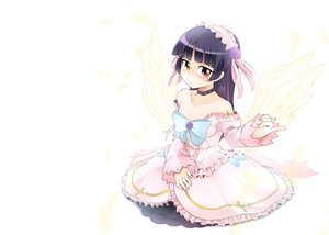 Rating: Safe Score: 62 Tags: bicolored_eyes gokou_ruri ore_no_imouto_ga_konna_ni_kawaii_wake_ga_nai photoshop white wings zuzu User: feiyuelisky