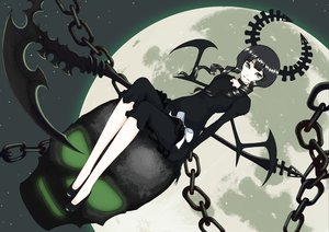 Rating: Safe Score: 65 Tags: black_rock_shooter horns nanahime_(aoi) takanashi_yomi wings User: SciFi