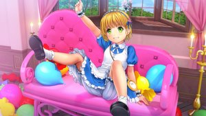 Rating: Safe Score: 24 Tags: alice_in_wonderland alice_(wonderland) apron blonde_hair bloomers couch green_eyes loli lolita_fashion moonknives socks upskirt wristwear User: gnarf1975