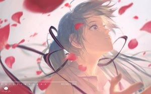 Rating: Safe Score: 38 Tags: blue_hair close hatsune_miku long_hair petals signed spencer_sais tears twintails vocaloid watermark User: RyuZU