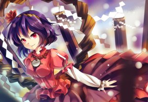 Rating: Safe Score: 59 Tags: bisonbison touhou yasaka_kanako User: Maboroshi