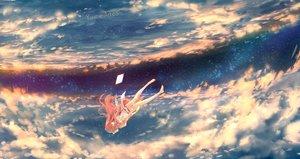 Rating: Safe Score: 153 Tags: barefoot clouds dress long_hair pink_hair rin_(shelter) shelter sky stars wenqing_yan_(yuumei_art) User: RyuZU