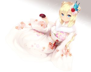 Rating: Safe Score: 94 Tags: aqua_eyes blonde_hair boku_wa_tomodachi_ga_sukunai cait cropped drink japanese_clothes kashiwazaki_sena kimono sake white User: Nepcoheart
