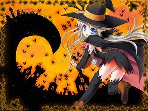 Rating: Safe Score: 36 Tags: animal bat blue_eyes halloween little_busters! long_hair na-ga noumi_kudryavka pumpkin white_hair witch User: Oyashiro-sama