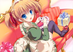 Rating: Safe Score: 41 Tags: blue_eyes brown_hair maid mikeou original pink_chuchu thighhighs twintails User: Wiresetc