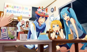 Rating: Safe Score: 34 Tags: aqua_eyes aqua_hair blonde_hair blue_hair blush brown_eyes brown_hair cake cat_smile drink food hatsune_miku headband kagamine_len kagamine_rin kaito long_hair male megurine_luka meiko night nokuhashi pink_hair short_hair skirt tie twintails vocaloid User: RyuZU