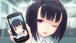 Rating: Safe Score: 125 Tags: black_hair close fumikura_azusa game_cg hana_wa_oritashi_kozue_wa_takashi jiyu2 short_hair tagme wink User: Wiresetc