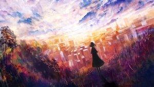 Rating: Safe Score: 95 Tags: bou_nin city original scenic sky User: FormX