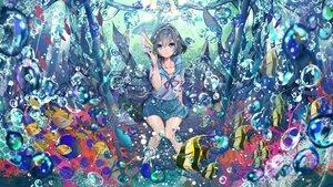Rating: Safe Score: 57 Tags: animal bubbles fish original school_uniform see_through umi_no_mizu underwater water User: BattlequeenYume