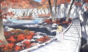 Rating: Safe Score: 148 Tags: asakura_masatoki barefoot dress forest landscape original scenic tree water User: HawthorneKitty