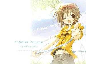 Rating: Safe Score: 6 Tags: brown_hair glasses minakami_mamoru short_hair shorts sister_princess watermark white User: Oyashiro-sama