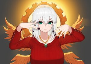 Rating: Safe Score: 25 Tags: dungeon_and_fighter green_eyes halo necklace rktlek159 short_hair white_hair wings User: otaku_emmy