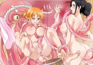Rating: Explicit Score: 147 Tags: ass barefoot bath breasts nami nico_robin nude one_piece raida_(user_yypr5857) tentacles uncensored User: FormX