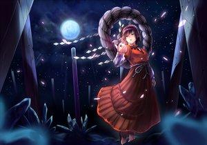 Rating: Safe Score: 64 Tags: inuzuka_bouru moon night touhou yasaka_kanako User: FormX