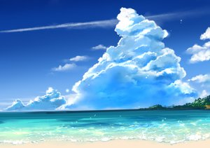 Rating: Safe Score: 24 Tags: beach clouds nobody original scenic sky tagme_(artist) water User: otaku_emmy