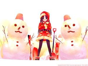Rating: Safe Score: 7 Tags: christmas satoyasu snow snowman winter User: Oyashiro-sama