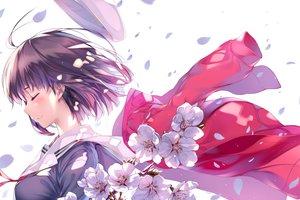 Rating: Safe Score: 161 Tags: flowers hat katou_megumi misaki_kurehito petals saenai_heroine_no_sodatekata school_uniform short_hair User: Wiresetc