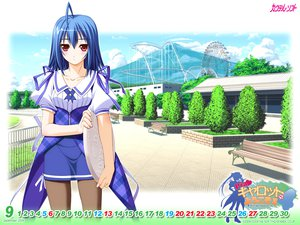 Rating: Safe Score: 33 Tags: blue_hair calendar kitagawa_sora murakami_suigun pantyhose pia_carrot pia_carrot_4 red_eyes waitress User: oranganeh