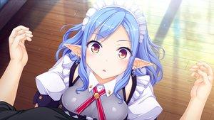Rating: Safe Score: 109 Tags: aqua_hair blush breasts game_cg headdress long_hair maid merou_aquri pointed_ears tagme_(artist) whirlpool world_election User: RyuZU
