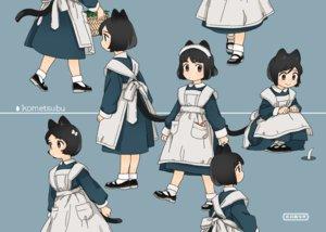 Rating: Safe Score: 25 Tags: akai_sashimi animal_ears apron black_eyes black_hair blue catgirl headdress loli maid original short_hair socks tail User: otaku_emmy