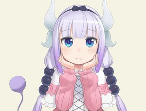 Rating: Safe Score: 48 Tags: aqua_eyes close cristalavi gray_hair horns kanna_kamui kobayashi-san_chi_no_maid_dragon loli long_hair tail twintails User: mattiasc02