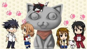Rating: Safe Score: 8 Tags: animal cat chibi ichinose_nagi kousaka_junpei michitaka_maro mizuno_kaede nyamsas nyan_koi! sumiyoshi_kanako User: korokun