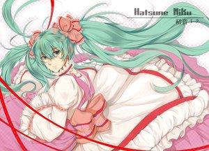 Rating: Safe Score: 22 Tags: bow dress hatsune_miku hongmao ribbons vocaloid User: Maboroshi