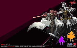 Rating: Questionable Score: 55 Tags: armor artemisia_(megami_tensei) bodysuit gun kirijou_mitsuru persona persona_3 persona_4 sword watermark weapon User: 秀悟