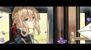Rating: Safe Score: 48 Tags: blonde_hair blue_eyes braids cheese_kang flowers petals short_hair signed violet_evergarden violet_evergarden_(character) User: RyuZU