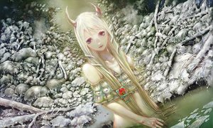 Rating: Safe Score: 140 Tags: horns kamishirasawa_keine snow touhou water white_hair yogisya User: FormX